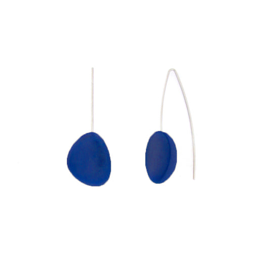 Blue Pebble Earrings