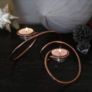 Copper Loop Tealight Holder