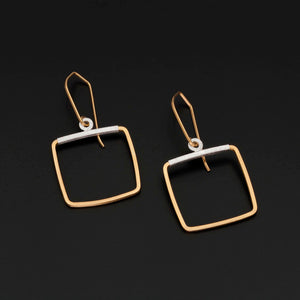 Gold Plated & Silver Accent Earrings