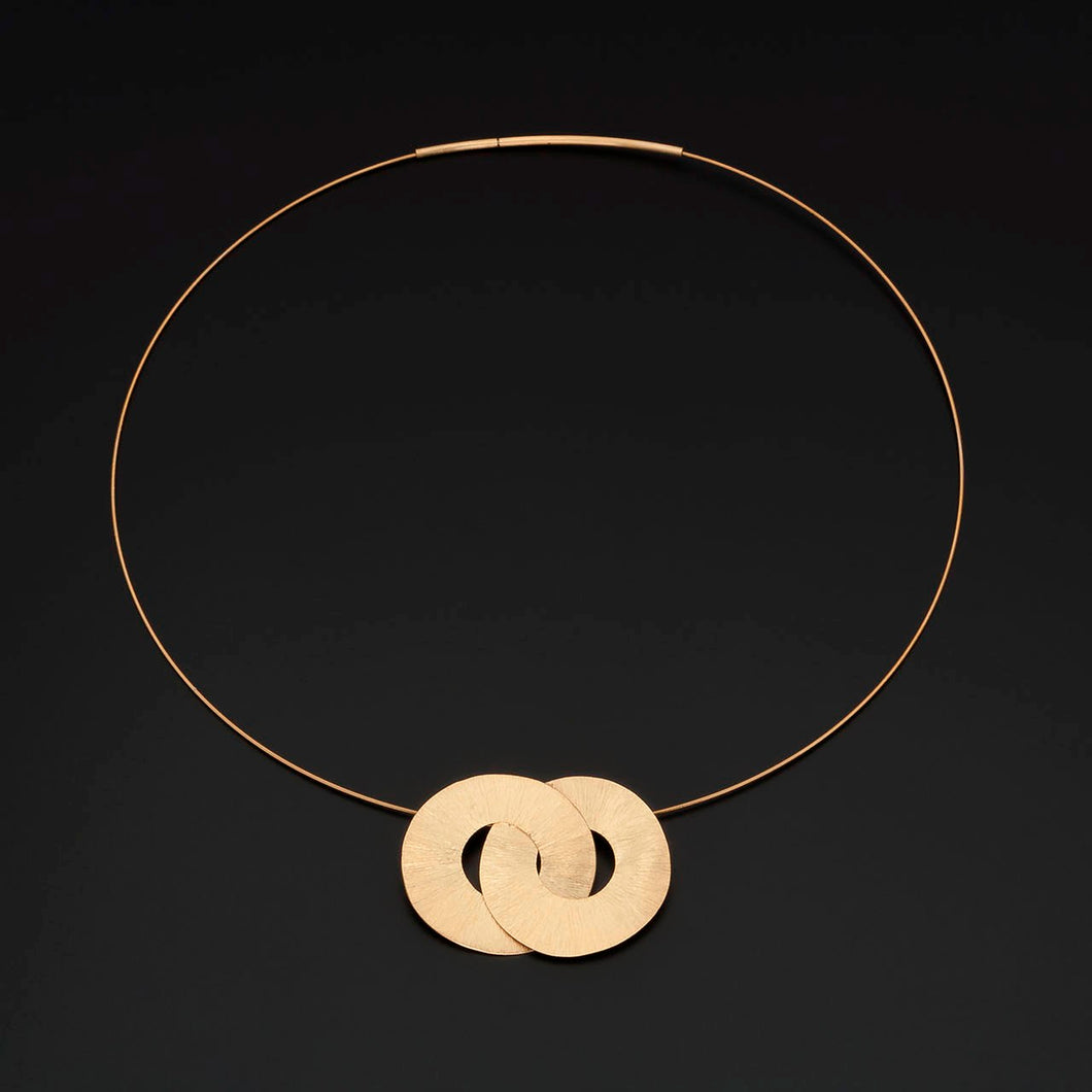 Double Circle Torque Necklace