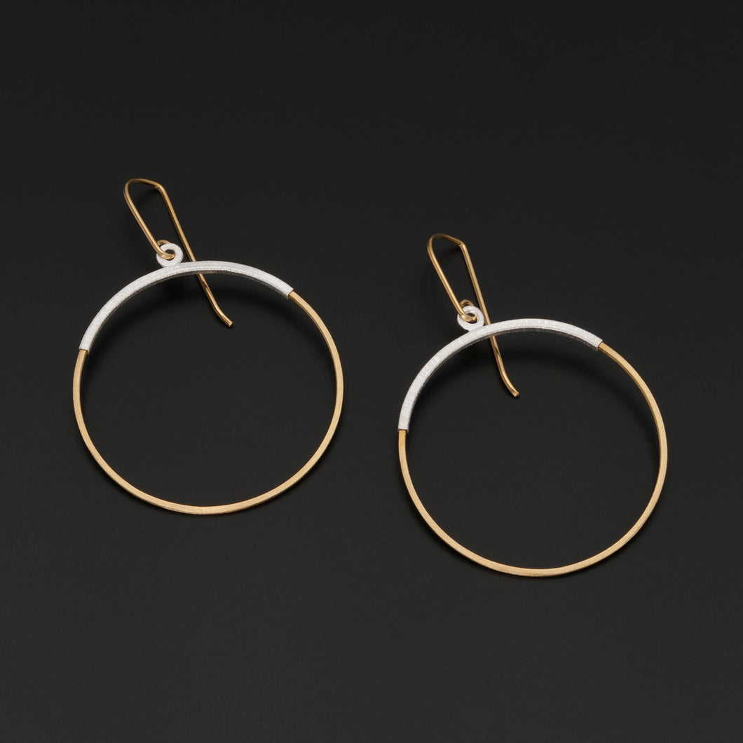 Gold Plated and Silver Earrings