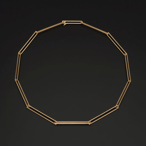 Gold Plated Geometric Necklace