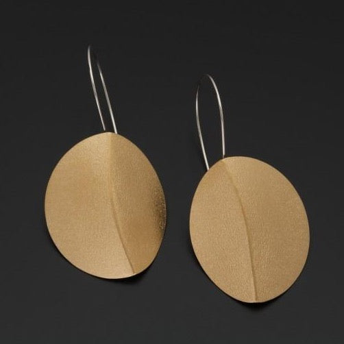 Folded Oval Earrings