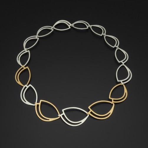 Silver & Gold Outline Necklace