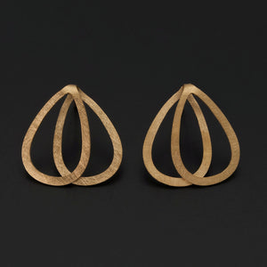 Gold Plated Double Teardrop Earrings