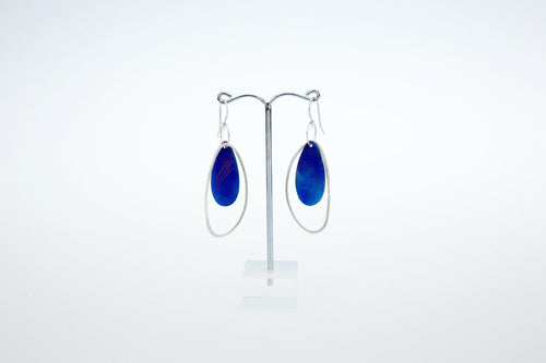 Pebble Oval Ring Drop Earrings