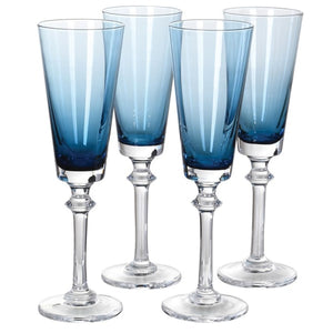 Blue Champagne Glass