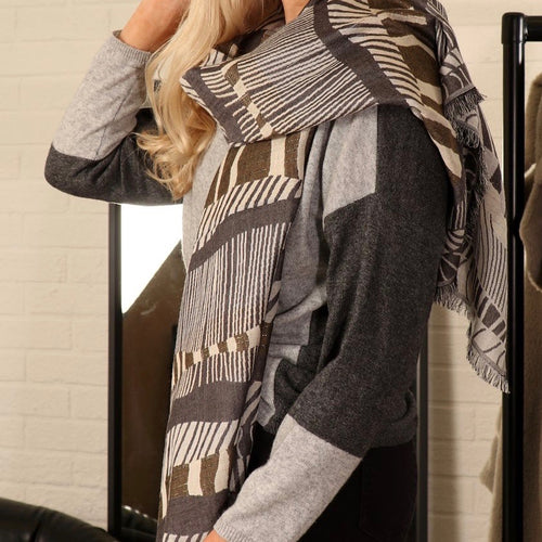 Black & Cream Scarf