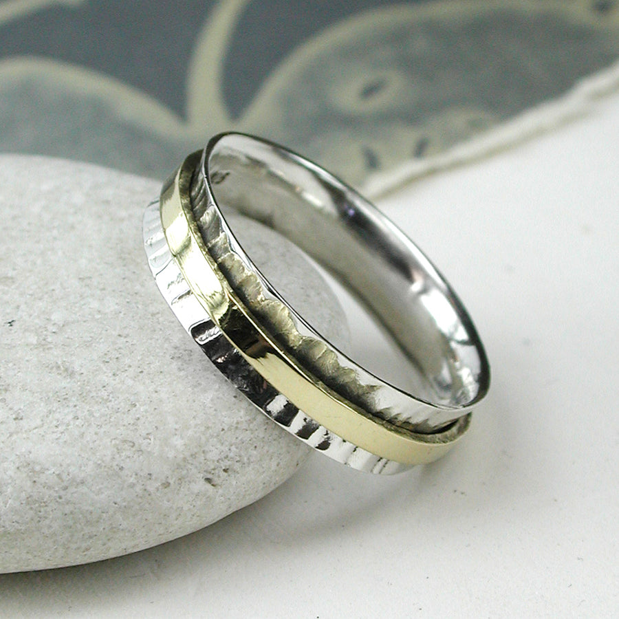 Silver & Brass Spinning Ring