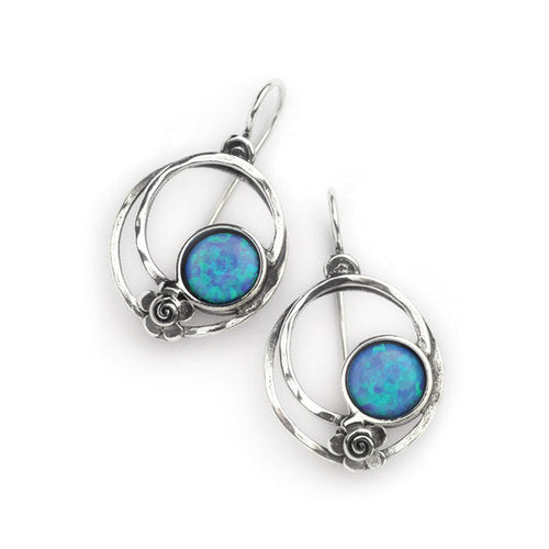 Silver Loop Drop Earrings