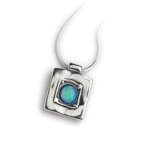 Opal Square Necklace