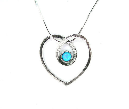 Silver Heart Loop Necklace