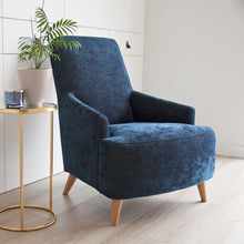 Load image into Gallery viewer, Chair in Petrol Blue Velvet