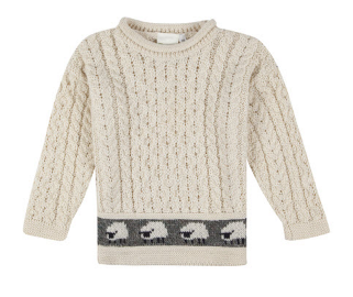 Child Ecru Aran Jumper
