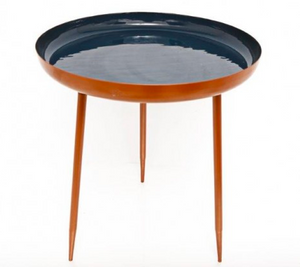 Large Dark Blue and Copper Table