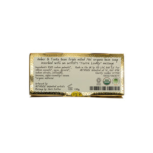 """You're Lovely"" Amber & Tonka Organic Soap"
