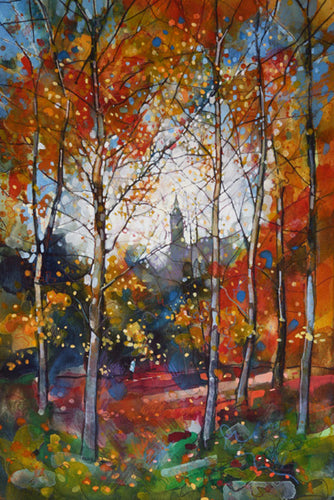 Autumn Walk Kelvingrove Mounted Print