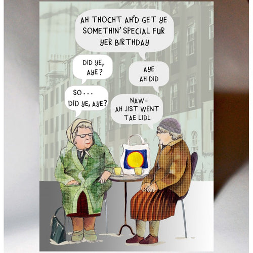 Auld Women Chatting Card