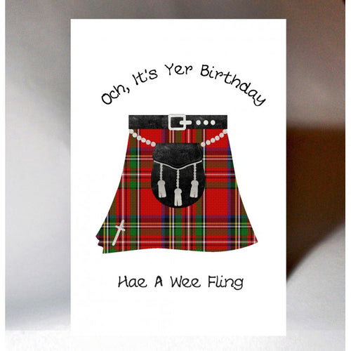Kilt Birthday Card