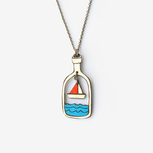 Boat In A Bottle Necklace