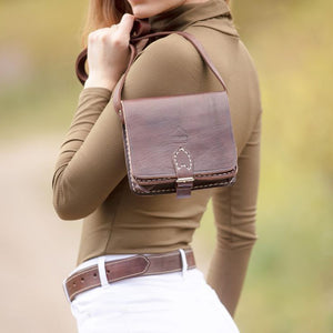 Dark Brown Square Saddle Bag