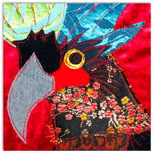 Load image into Gallery viewer, Cockatoo Embroidered Cushion