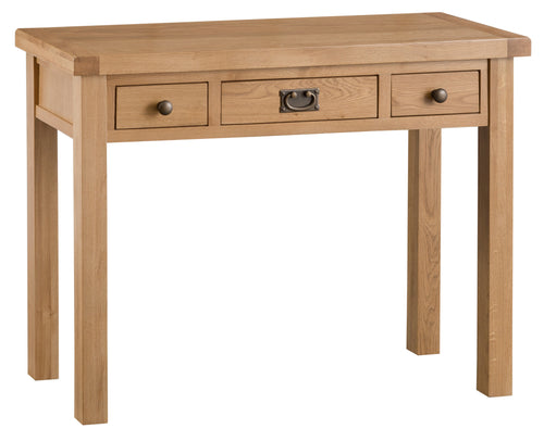 Oak 3 Drawer Dressing Table