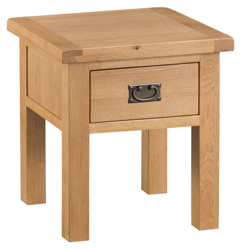 Oak Lamp Table (With Drawer)