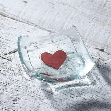 Red Heart Jewellery Dish