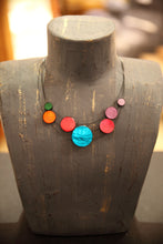 Load image into Gallery viewer, Multicolored Disc Necklace