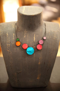Multicolored Disc Necklace