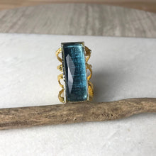 Load image into Gallery viewer, Blue Quartz Rectangular Ring