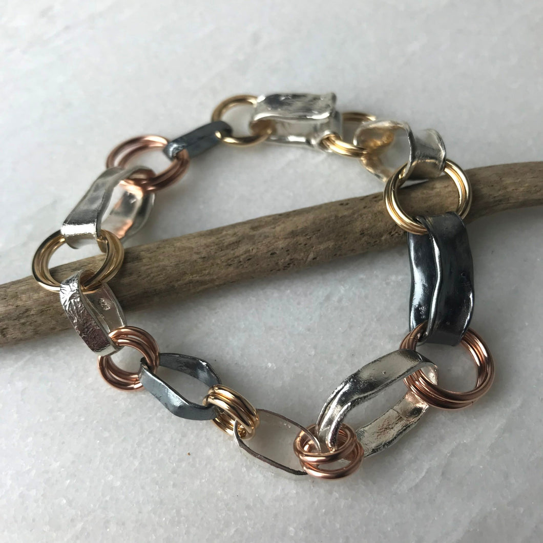 Mixed Metals Chain Bracelet