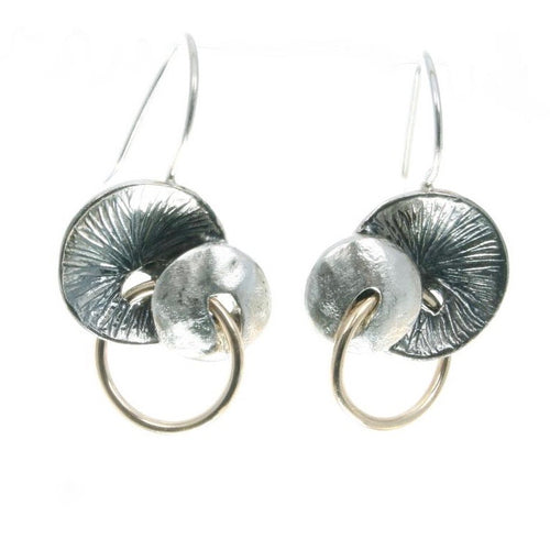 Mixed Metals Disc Earrings