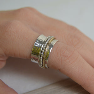 Gold Fill Beaded Spinning Ring - Made to order