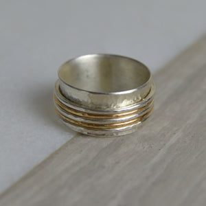 Silver & Gold Fill Spinning Ring - Made to Order