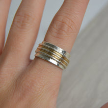 Load image into Gallery viewer, Silver & Gold Fill Spinning Ring - Made to Order