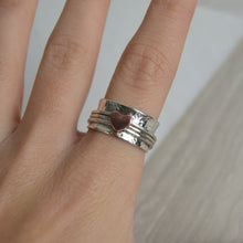 Load image into Gallery viewer, Silver & Copper Heart Spinning Ring - Made to order