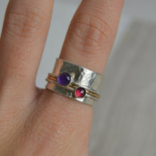 Load image into Gallery viewer, Amethyst & Garnet Spinning Ring