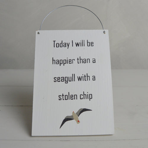 Happier Than a Seagull With a Stolen Chip Decoration