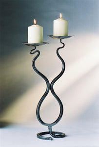 Double Wave Candleholder