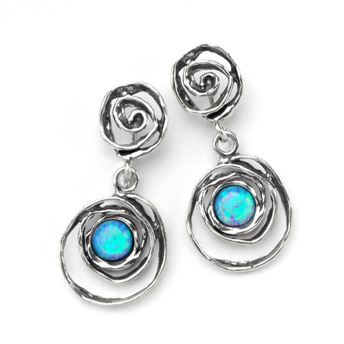 Silver Irregular Loop Earrings