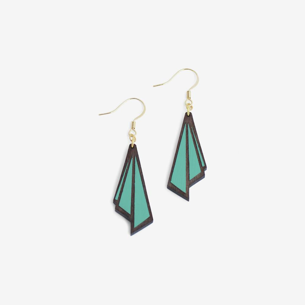 Teal Huitre Hook Earrings