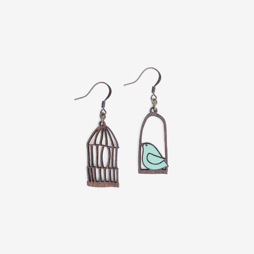 Blue Freedom Hook Earrings
