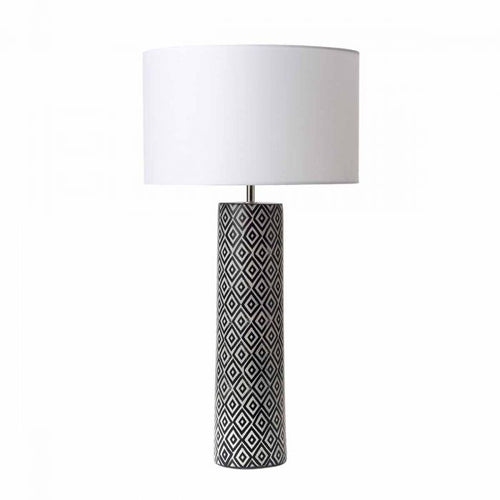 Ceramic Patterned Table Lamp