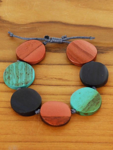 Copper Wooden Bracelet