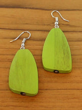 Load image into Gallery viewer, Green Pebble Earrings