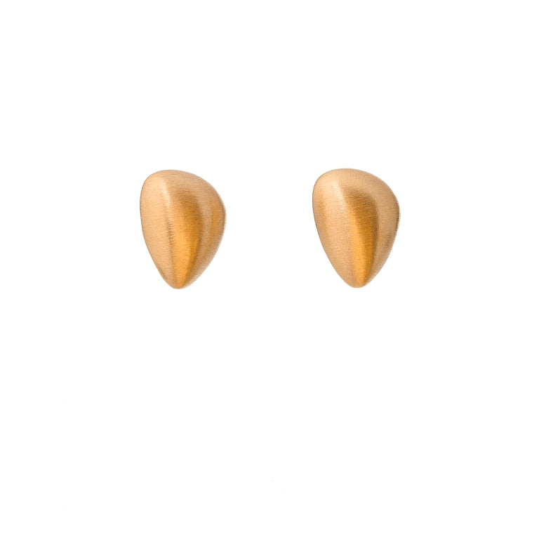 Gold Plated Pebble Stud Earrings