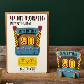 90th Birthday Pop Out Card