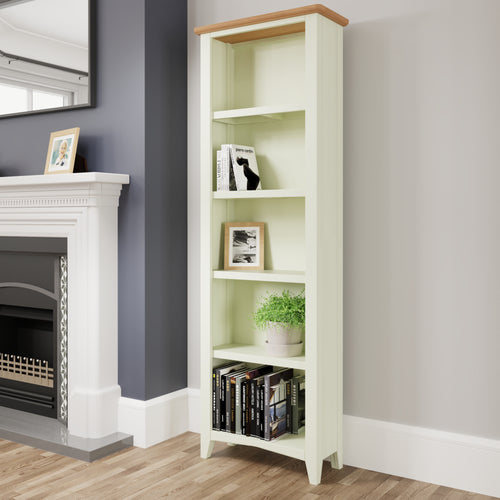 Painted White Large bookcase